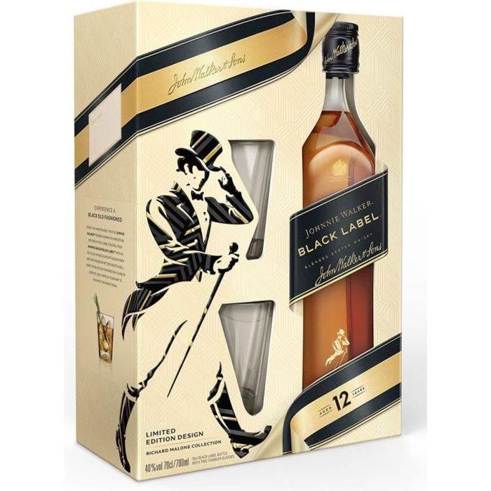 WHISKY BOURBON SCOTCH Johnnie Walker Black Label - Blended Whisky - 40%v