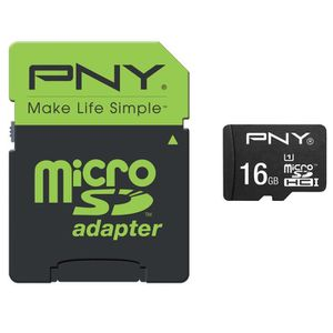 CARTE MÉMOIRE PNY Performance Carte mémoire Micro SDHC 16 Go Cla