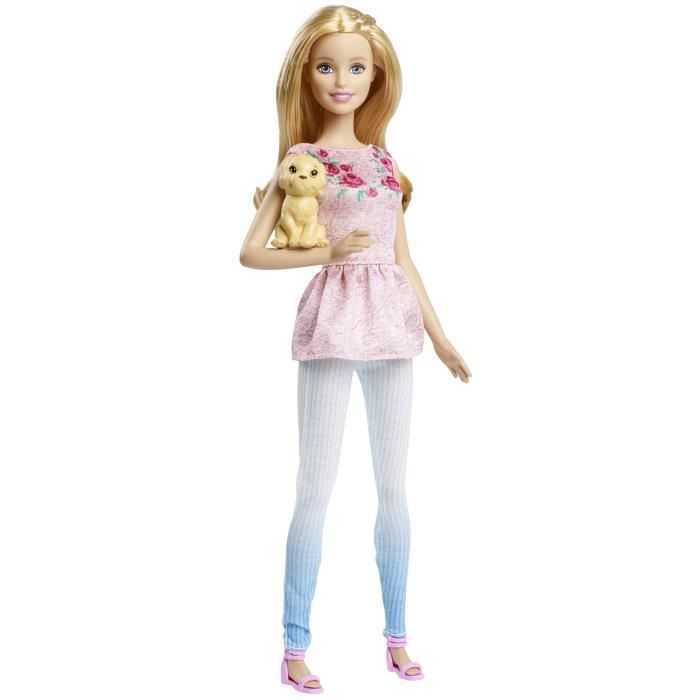 Barbie soeur chiot de mattel for Barbie chien piscine