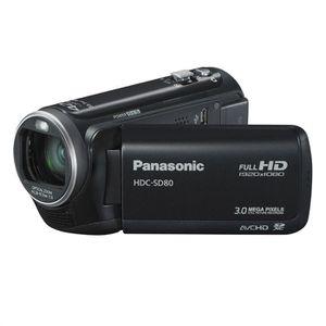 CAMÉSCOPE NUMÉRIQUE PANASONIC HDC-SD80 noir