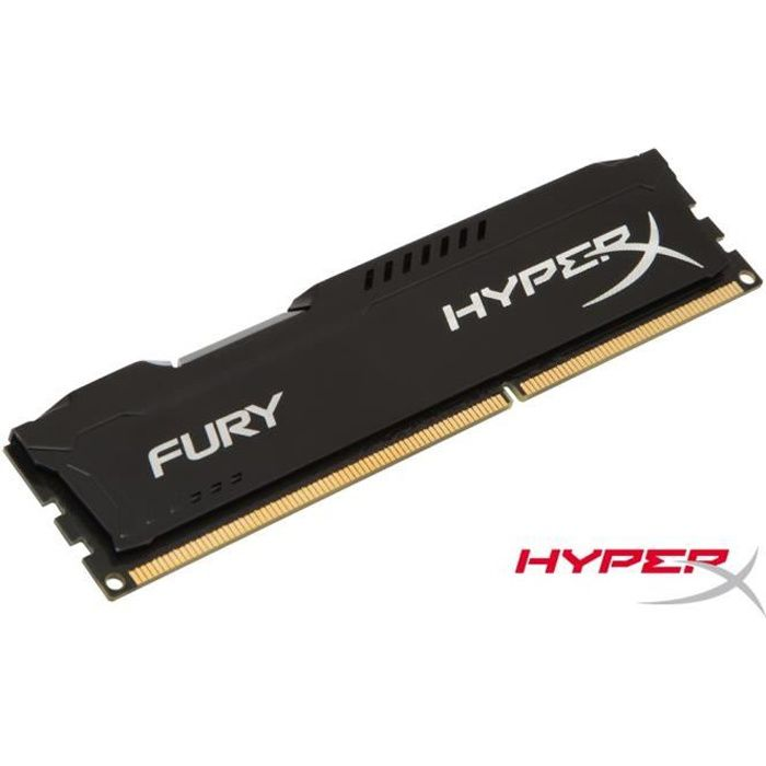 MÉMOIRE RAM Kingston 4Go DDR3 1866MHz CL10 HyperX FURY Black