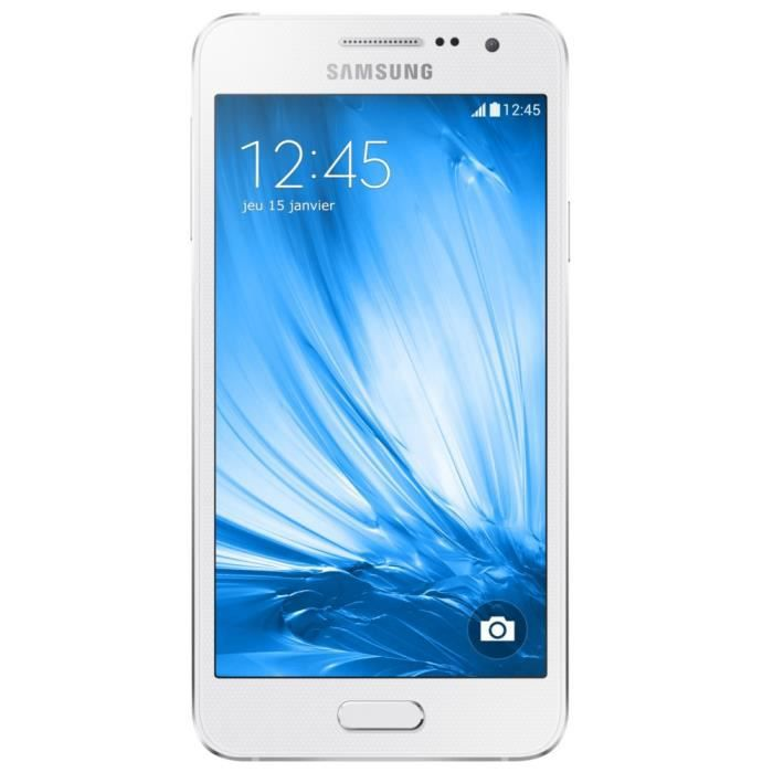 samsung galaxy a3 blanc achat smartphone pas cher avis. Black Bedroom Furniture Sets. Home Design Ideas