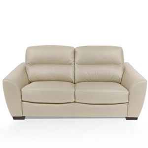 CANAPÉ - SOFA - DIVAN BARONE Canapé 3 places - Cuir beige - Made in Ital