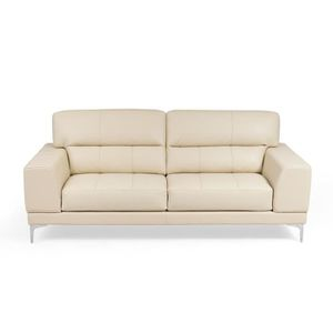CANAPÉ - SOFA - DIVAN VERON Canapé 3 places - Cuir beige - Made in Italy