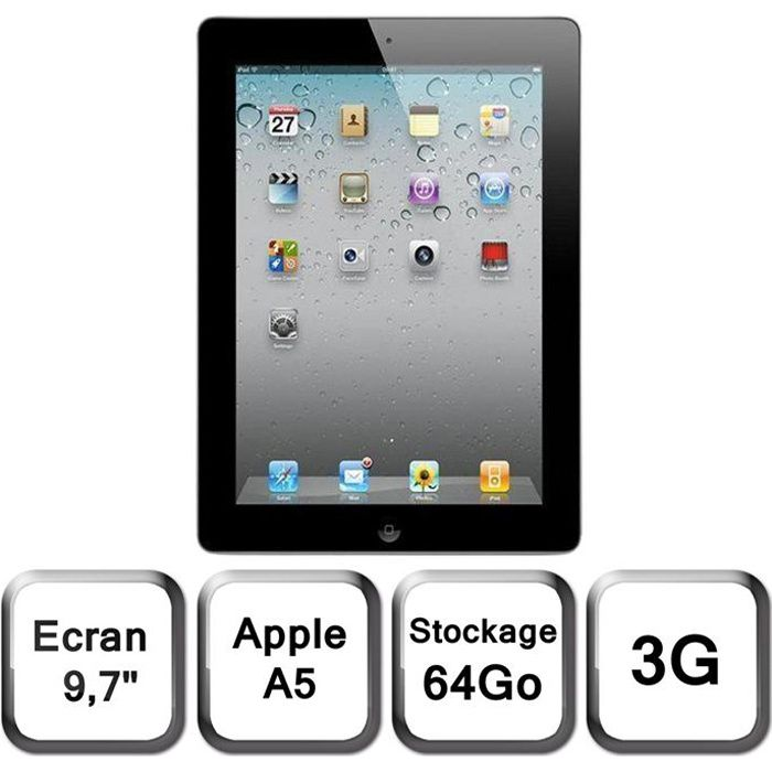 apple ipad 2 64 go 3g achat vente tablette tactile. Black Bedroom Furniture Sets. Home Design Ideas