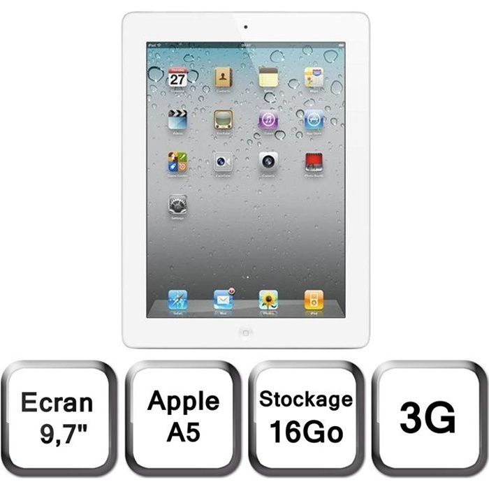 apple ipad 2 16 go 3g achat vente tablette tactile. Black Bedroom Furniture Sets. Home Design Ideas