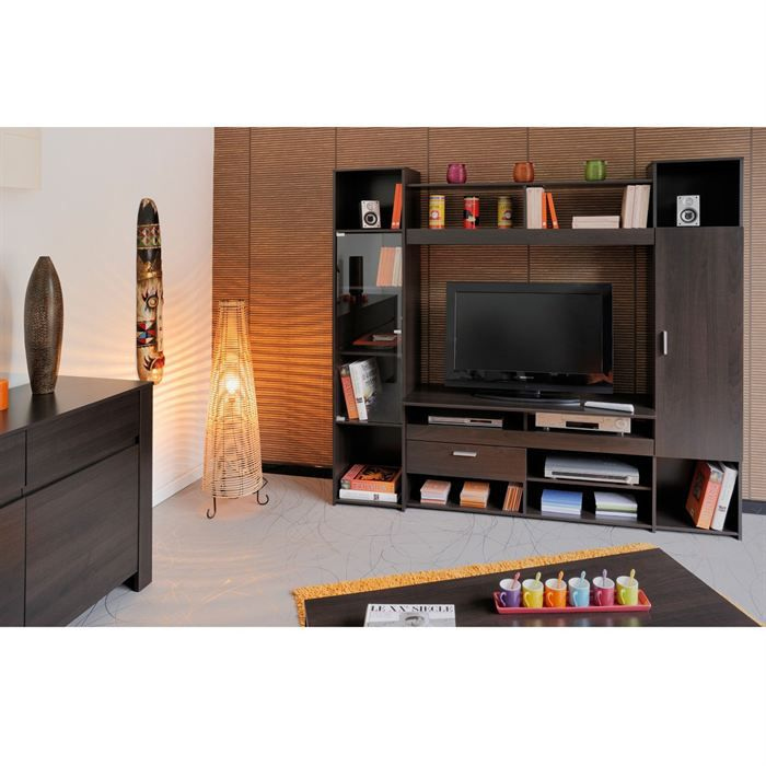 Cafe meuble tv mural 191 cm caf achat vente meuble tv cafe meuble tv mural cdiscount - Meuble tv mural cdiscount ...