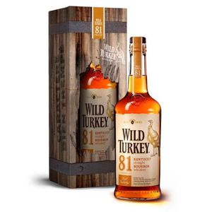 WHISKY BOURBON SCOTCH Wild Turkey 81 70cl 40.5° coffret Métal