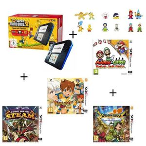 CONSOLE 2DS 4 jeux + console 2DS Bleue + New Super Mario Bros