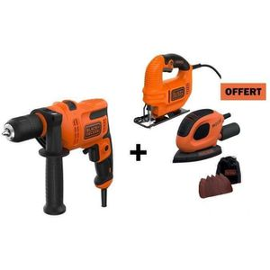 PACK DE MACHINES OUTIL BLACK + DECKER 1 Perceuse à percussion achetée = 1