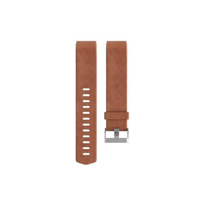 BRACELET MONTRE CONNEC. FITBIT Bracelet Collection Luxe Cuir pour CHARGE 2