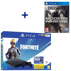 CONSOLE PS4 PS4 Slim 500 Go Noire + Call of Duty Modern Warfar
