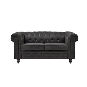 CANAPÉ - SOFA - DIVAN EDGAR Canapé Chesterfield droit fixe 2 places - Ti