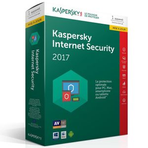 ANTIVIRUS Kaspersky Internet Security 2017 1 Poste / 1 An Mi