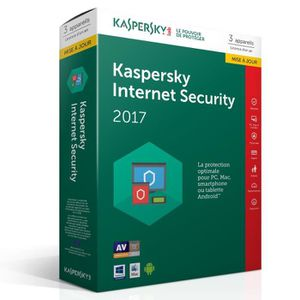 ANTIVIRUS Kaspersky Internet Security 2017 3 Postes / 1 An M