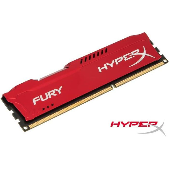 MÉMOIRE RAM Kingston 8Go DDR3 1866MHz CL10 HyperX FURY Red