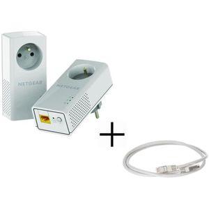 COURANT PORTEUR - CPL PACK NETGEAR 2 adaptateurs CPL 1200 + CONTINENTAL