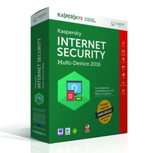 ANTIVIRUS Kaspersky Internet Security 2016 (2 postes / 1 an)