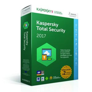ANTIVIRUS Kaspersky Total Security 2017 - 2 postes / 1 an