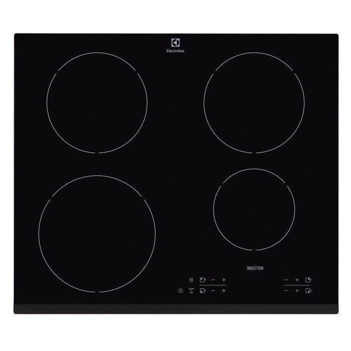 electrolux ehh6340fsk table de cuisson induction 4 zones 7400w l59 x p52cm rev tement. Black Bedroom Furniture Sets. Home Design Ideas