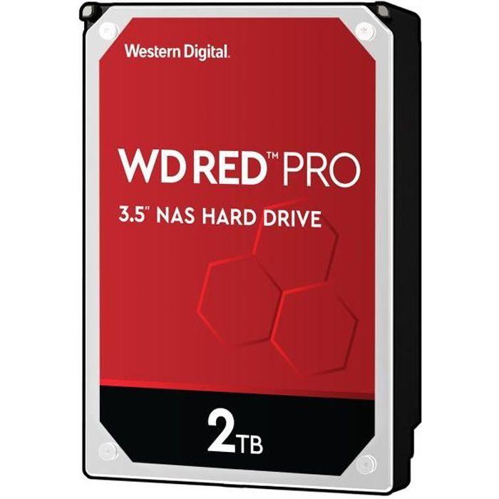 WD Red Pro 3.5 Disque dur interne pour NAS 8 /à 16 baies 2 To 7200 RPM 64 Mo SATA 6Gb//s WD2002FFSX - bulk