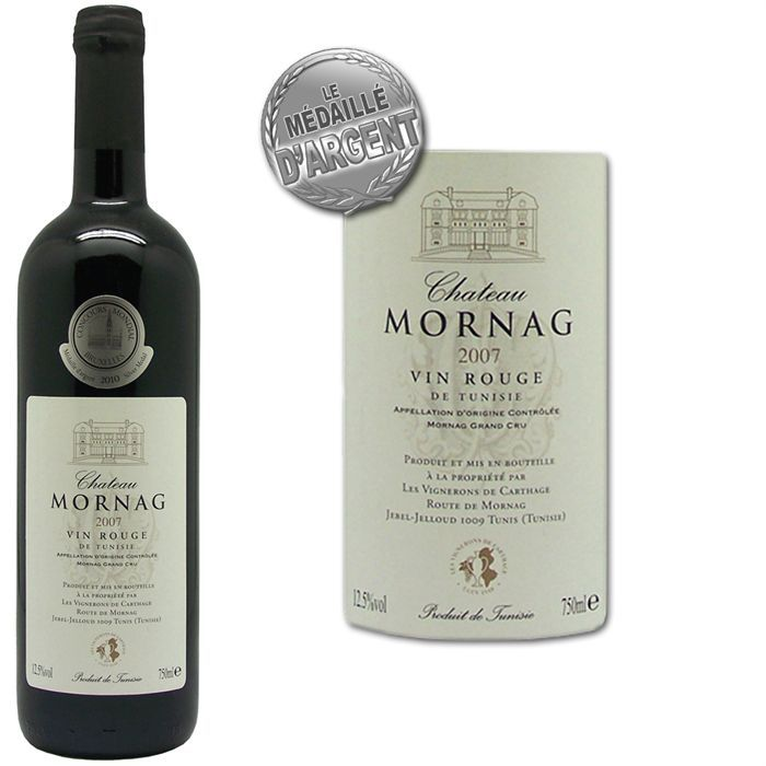 VIN ROUGE Chateau Mornag Tunisie 2007