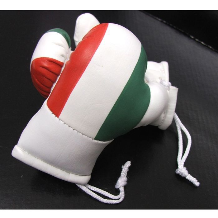2 mini gants de boxe drapeau italien achat vente d coration v hicule 2 mini gants boxe. Black Bedroom Furniture Sets. Home Design Ideas