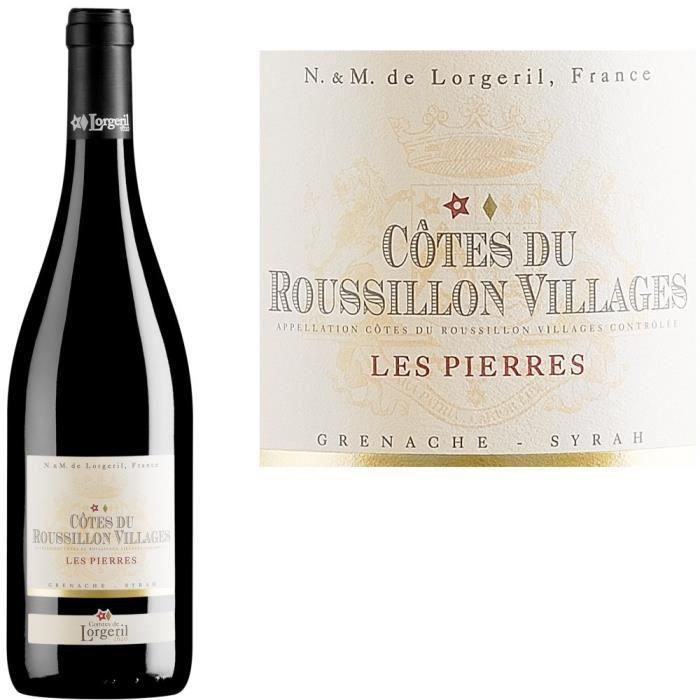 VIN ROUGE Les Pierres 2013 Côtes du Roussillon Villages - Vi
