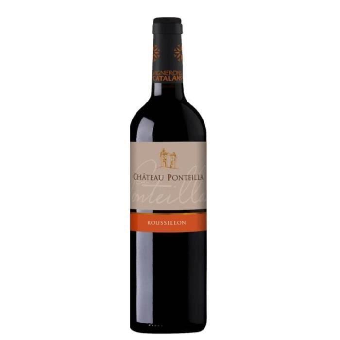 VIN ROUGE Château Ponteilla 2016 Côtes du Roussillon - Vin r