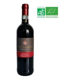 VIN ROUGE PUGLIA 2017 Costa Al Sole Primitivo Vin rouge d'It