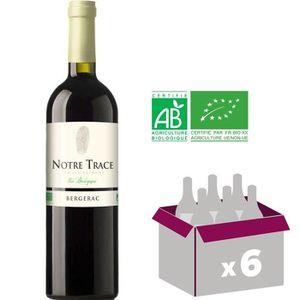 VIN ROUGE NOTRE TRACE 2016 Vin rouge - BIO - 75 cl x6 - AOP