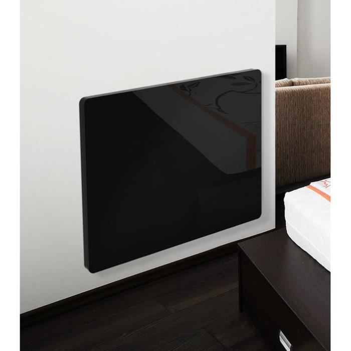 cayenne klaas 1500 watts radiateur panneau rayonnant lectrique fa ade en verre noir achat. Black Bedroom Furniture Sets. Home Design Ideas