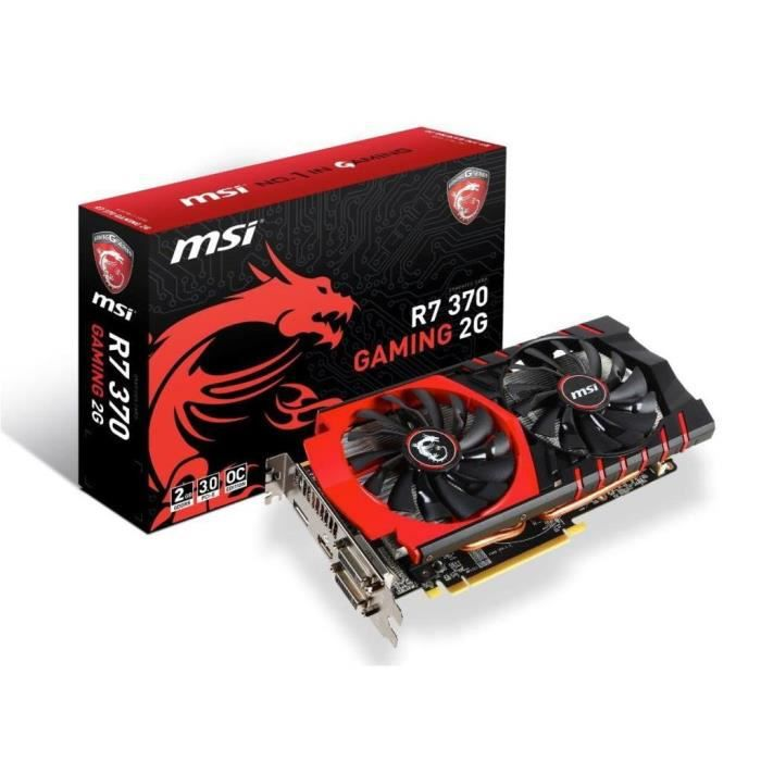 CARTE GRAPHIQUE INTERNE MSI R7 370 Gaming 2Go DDR5