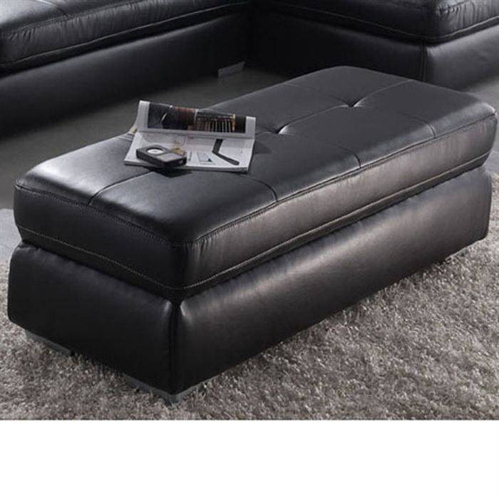 calgary grand pouf droit 2 places pu noir achat vente pouf poire pu cdiscount. Black Bedroom Furniture Sets. Home Design Ideas