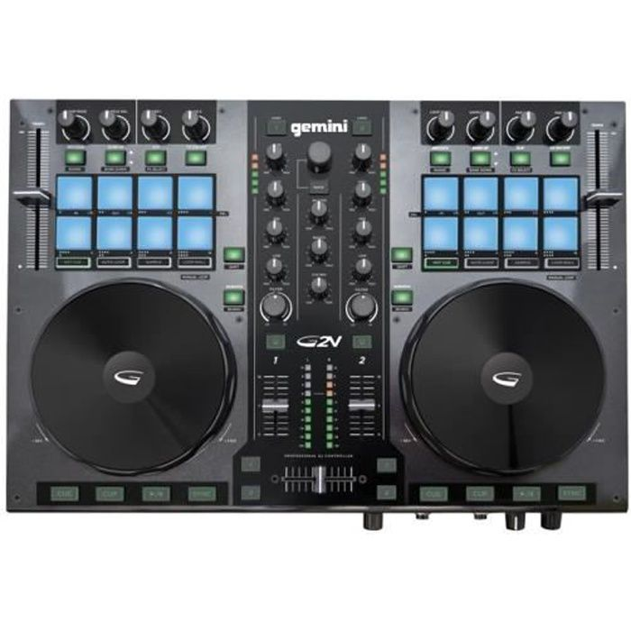 gemini g2v contr leur dj usb midi 2 voies table de mixage avis et prix pas cher cdiscount. Black Bedroom Furniture Sets. Home Design Ideas