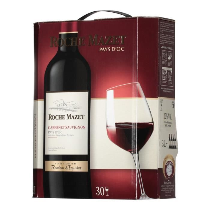 VIN ROUGE Cabernet Sauvignon 3l Roche Mazet