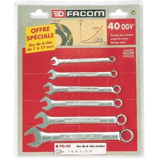 Facom PG.40 Coffret de 6 cl/és mixtes