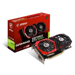 CARTE GRAPHIQUE INTERNE MSI Carte graphique GeForce® GTX 1050 Ti GAMING 4G