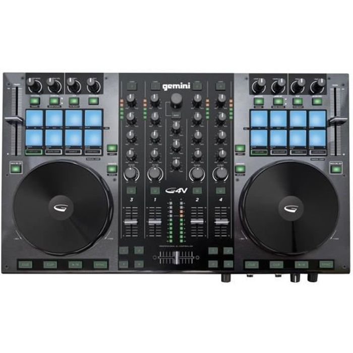 gemini g4v contr leur dj usb midi 4 voies achat vente table de mixage gemini g4v pas cher. Black Bedroom Furniture Sets. Home Design Ideas