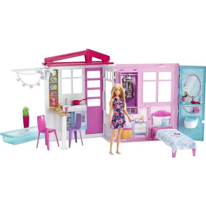 MAISON POUPÉE BARBIE - Barbie & Sa Maison à Emporter - Maison de
