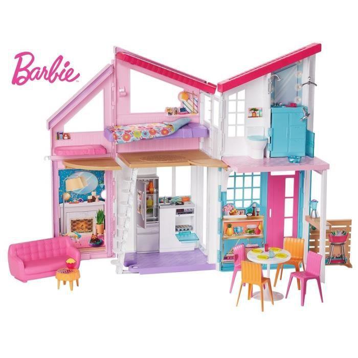 ACCESSOIRE POUPÉE BARBIE La Maison à Malibu repliable pour poupées,