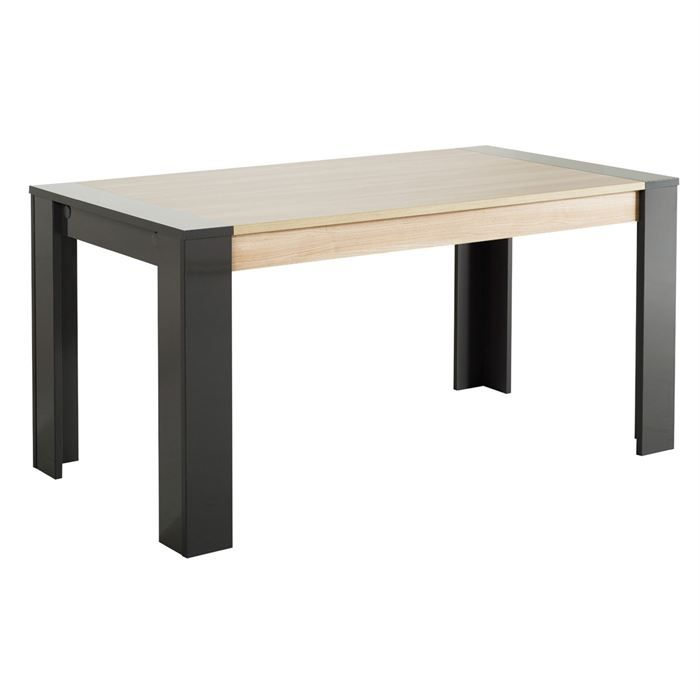 Omega table manger 160cm gris brillant achat vente - Achat table a manger ...