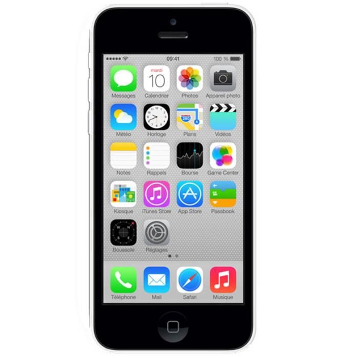 apple iphone 5c 16 go blanc 4g   achat smartphone pas cher