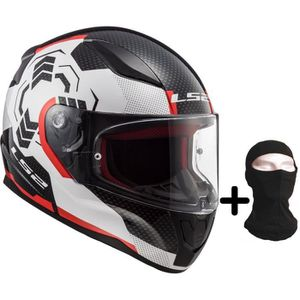 CASQUE MOTO SCOOTER LS2 Casque moto intégral Rapid Ghost + Cagoule - B