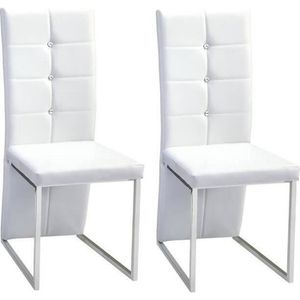 CHAISE BLING Lot de 2 chaises de salle à manger - Simili