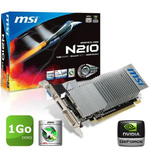 CARTE GRAPHIQUE INTERNE MSI GeForce N210 1Go DDR3