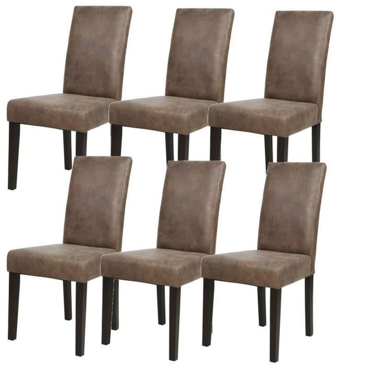 chaises marron achat vente chaises marron pas cher cdiscount. Black Bedroom Furniture Sets. Home Design Ideas