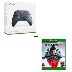 JEU XBOX ONE Manette Xbox One sans fil Grise/Bleue + Jeu Xbox O