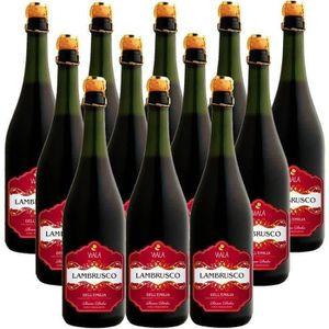 VIN ROUGE Carton de 12 Viala Lambrusco - Vin rouge