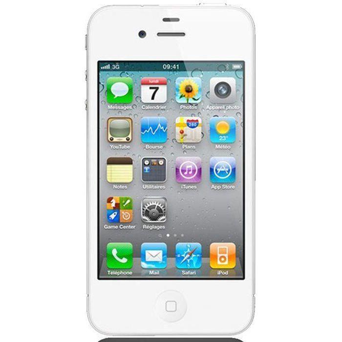 APPLE Iphone 4S 16Go Blanc - Reconditionné - Etat